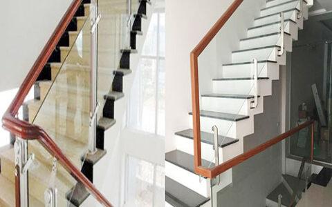 Cầu thang kính 01 tại hải phòng