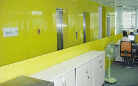 Kính màu ốp tường 03 tại hải phòng