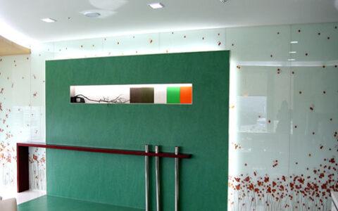 Kính màu ốp tường 04 tại hải phòng
