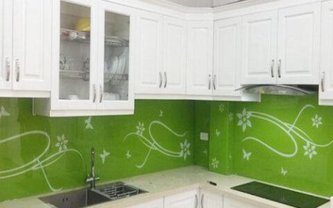 Kính màu ốp bếp 11 tại hải phòng