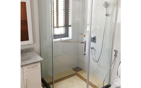 Phòng tắm kính mở quay 02 tại hải phòng