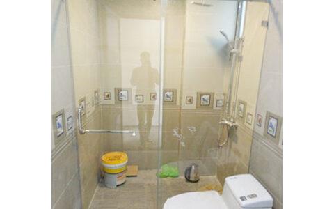 Vách tắm kính cửa lùa 02 tại hải phòng